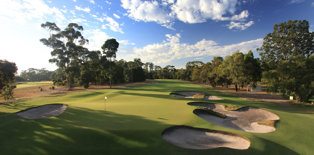 The ninth at The Metropolitan Golf Club in Melbourne. Picture: Gary Lisbon