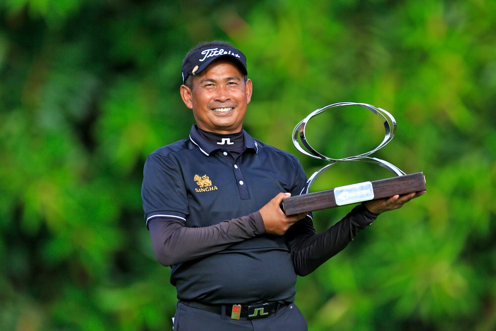 Thaworn Wiratchant with the MCB Tour Championship trophy