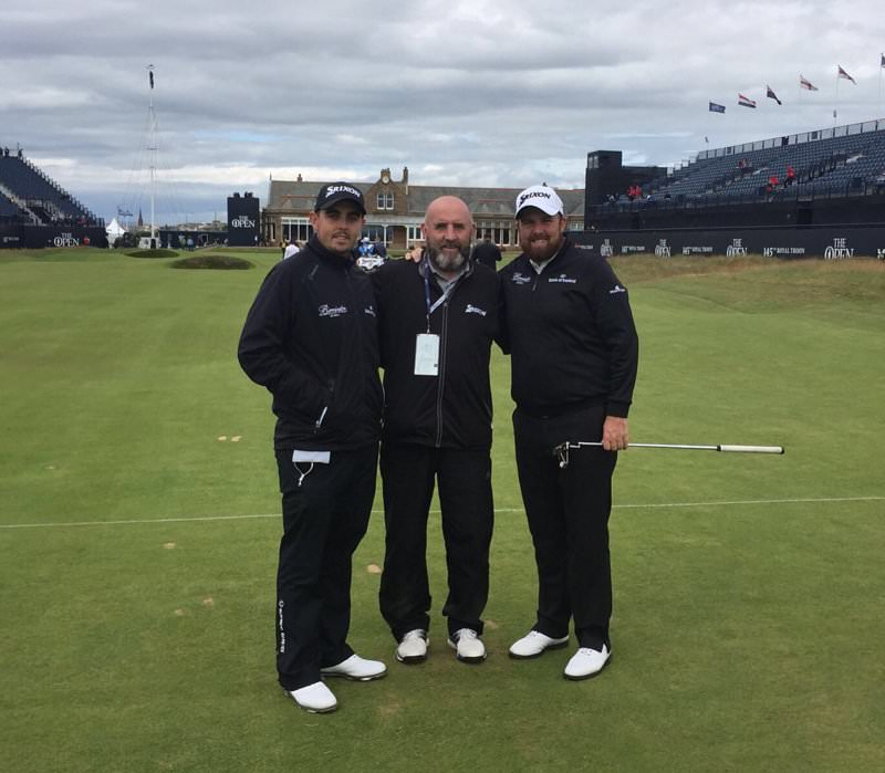 L-R: Alan, Brendan and Shane Lowry at Royal Birkdale in 2017