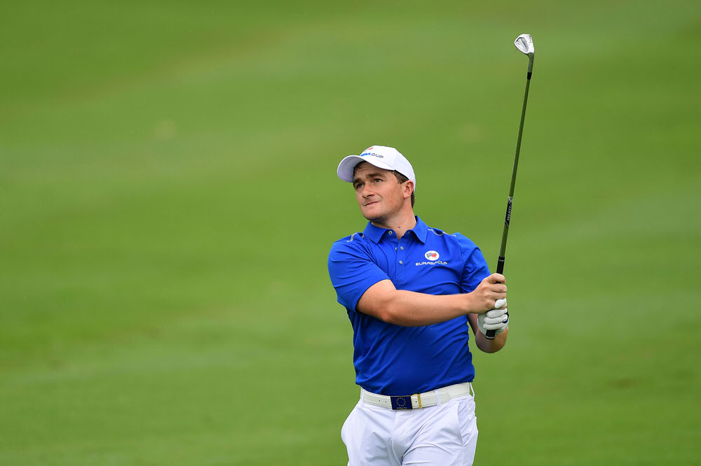 Paul Dunne in action in the four balls for Europe in the EurAsia Cup in Kuala Lumpur. Picture: Asian Tour