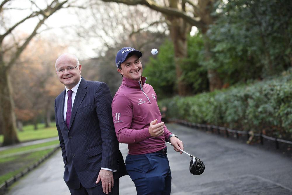 Paul Dunne with Shaun Murphy, Managing Partner of KPMG in Ireland