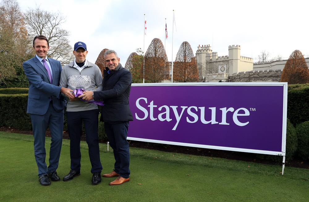 David MacLaren, Head of the Staysure Tour, Ryan Howsam, Chairman of Staysure, and Paul McGinley. Picture: Getty Images