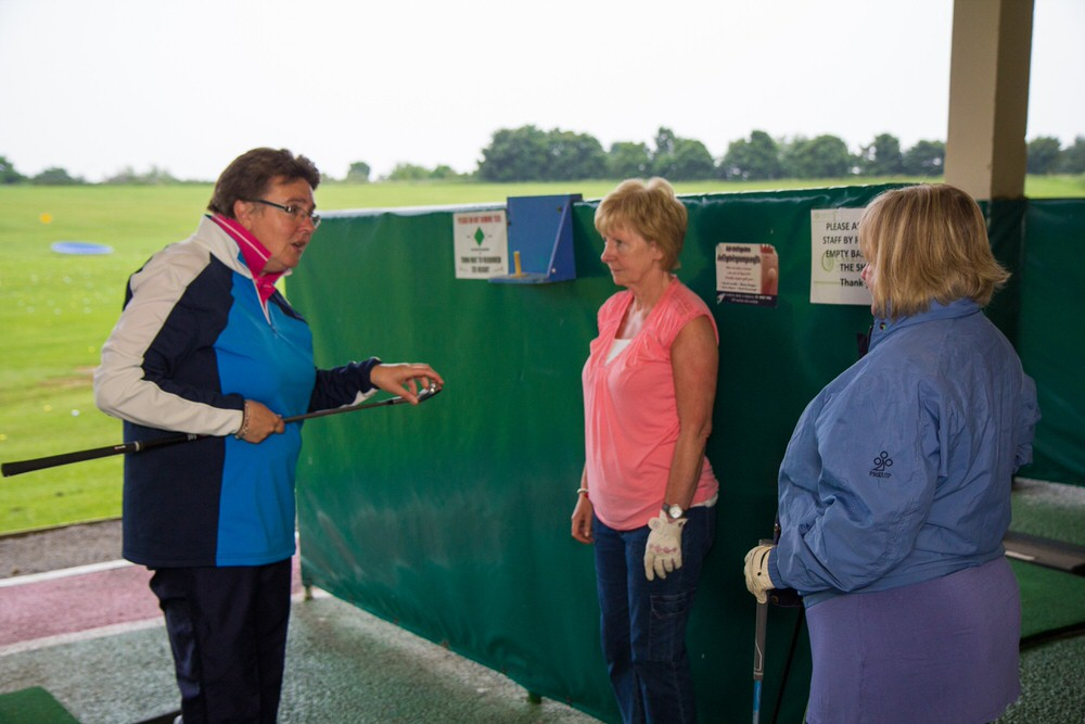Gillian Burrell coaching a Spawell