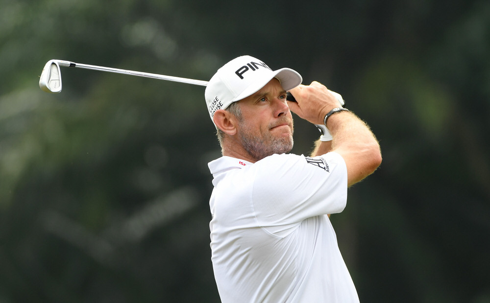 Lee Westwood of England on the 16th tee during the second round of the Maybank Championship Malaysia at Saujana Golf and Country Club on February 2, 2018 in Kuala Lumpur, Malaysia. (Photo by Ross Kinnaird/Getty Images)