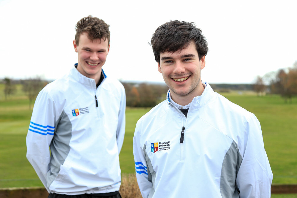 Picture: Cian Feeney (MU) and David Brady (MU) winners of the Irish Student Sixes Tournament. Credit to Golffile | Fran Caffrey.
