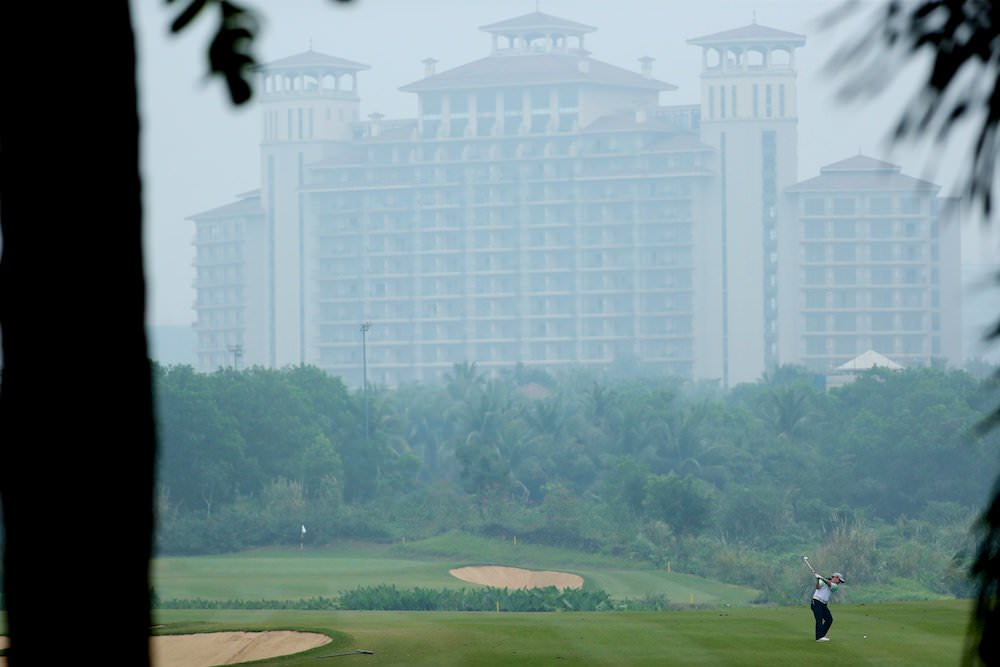 Brian O'Donovan in action at the PGA TOUR China Qualifying Tournament at Mission Hills Haikou