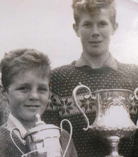 """Golf stars of the future?"" Des Smyth and Declan Branigan at Laytown & Bettystown in their very early days"