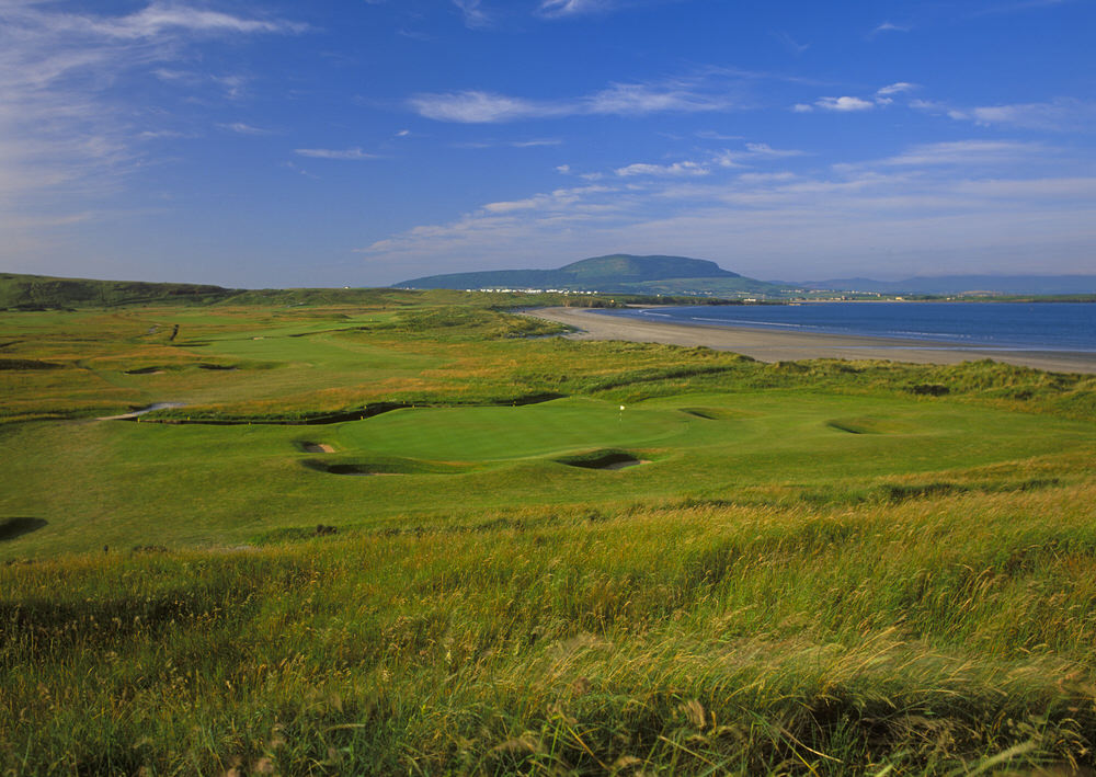 The 13th green at County Sligo