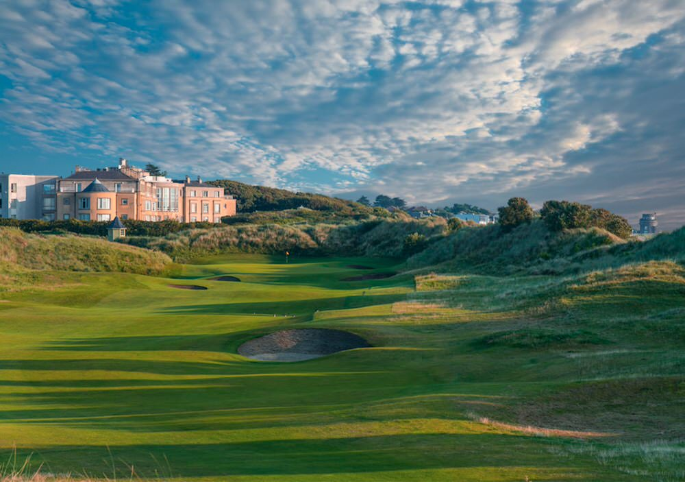 The 18th at Portmarnock Hotel & Golf Links, which would not be the finishing hole for an Irish Open
