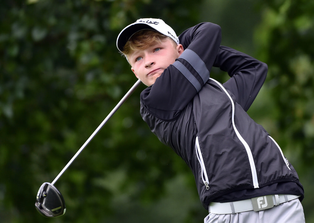 Ewan McArthur (Massereene) during the final day of the 2017 Irish Boys Under 14 Amateur Open. Picture by  Pat Cashman
