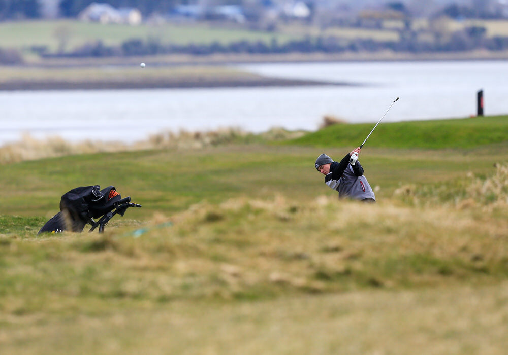 Jack Madden (Royal Portrush) during the 3rd round of matchplay at the 2018 West of Ireland, in Co Sligo Golf Club, Rosses Point, Sligo, Co Sligo, Ireland. 02/04/2018. Picture: Golffile | Fran Caffrey   All photo usage must carry mandatory copyright credit (� Golffile | Fran Caffrey)
