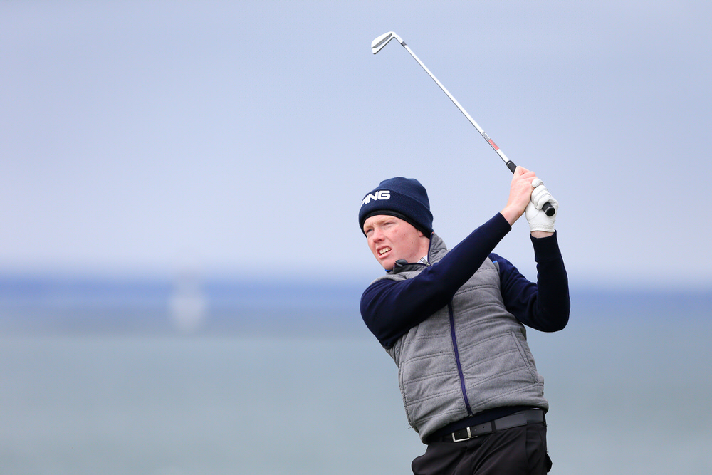 Robin Dawson (Tramore) during the 3rd round of matchplay at the 2018 West of Ireland, in Co Sligo Golf Club, Rosses Point, Sligo, Co Sligo, Ireland. 02/04/2018. Picture: Golffile | Fran Caffrey   All photo usage must carry mandatory copyright credit (� Golffile | Fran Caffrey)