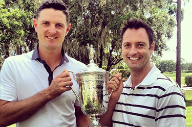 Dr Gio Valiante with Justin Rose