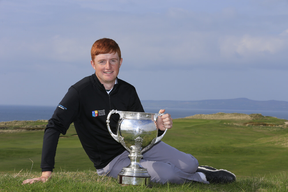 Ronan Mullarney (MU) winner of the Irish Students Amateur Open Championship, Tralee Golf Club, Tralee, Co Kerry, Ireland. 12/04/2018. Picture: Golffile | Fran Caffrey   All photo usage must carry mandatory copyright credit (� Golffile | Fran Caffrey)