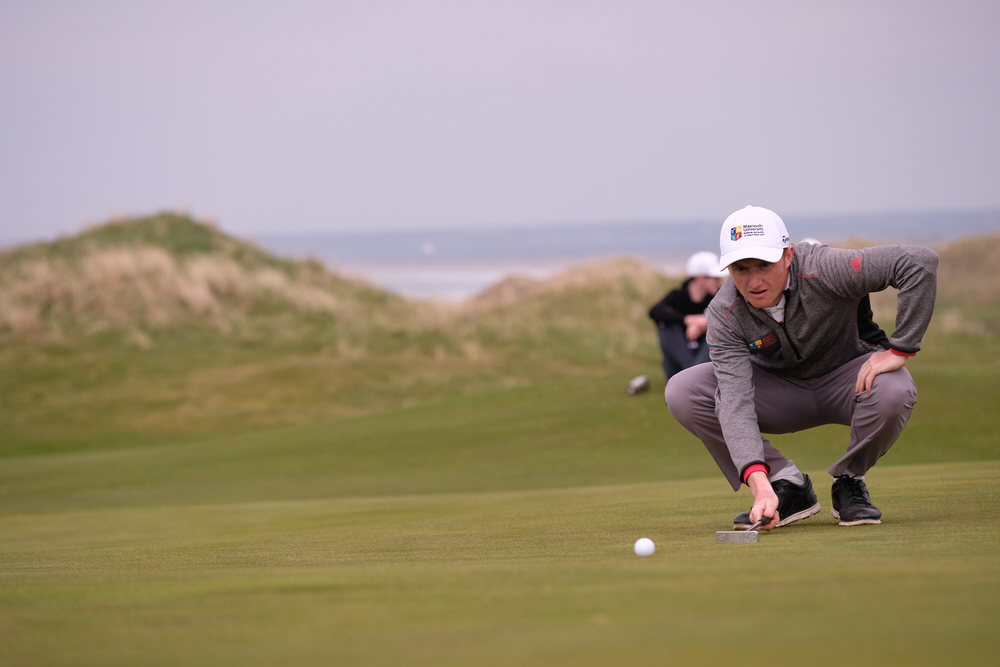 Ronan Mullarney (MU) during the final of the Irish Students Amateur Open Championship, Tralee Golf Club, Tralee, Co Kerry, Ireland. 12/04/2018. Picture: Golffile | Fran Caffrey   All photo usage must carry mandatory copyright credit (� Golffile | Fran Caffrey)