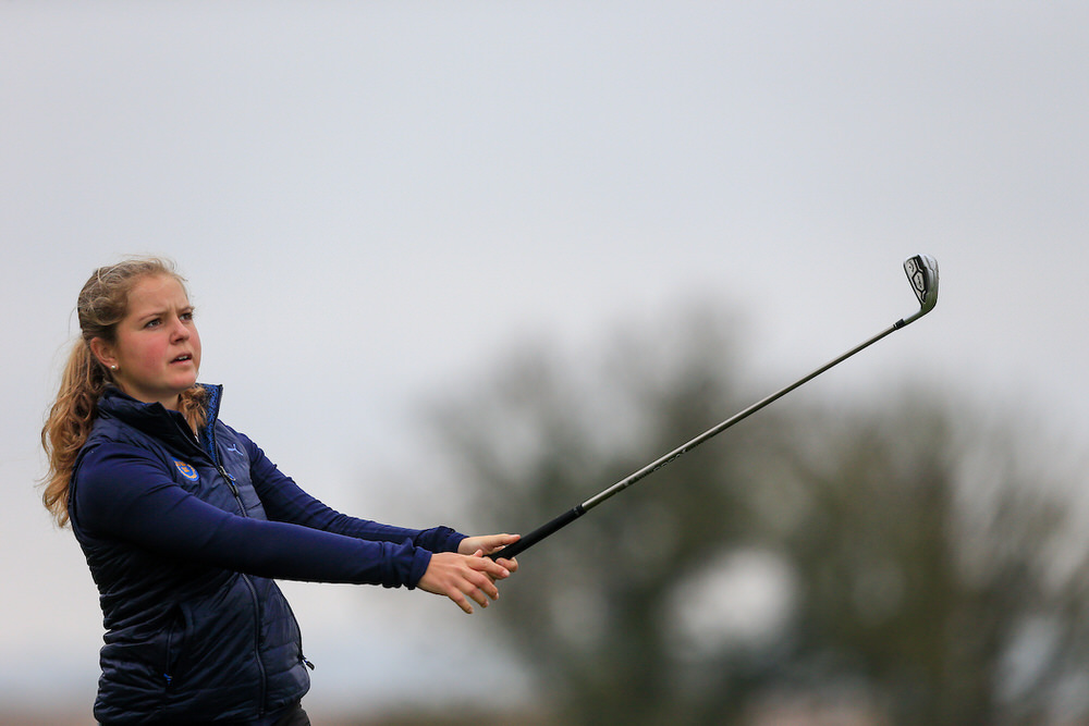 Kajsa Arwefjall (Sweden) during the Irish Girls' Open Stroke Play Championship at Roganstown Golf and Country Club. Picture: Golffile | Fran Caffrey