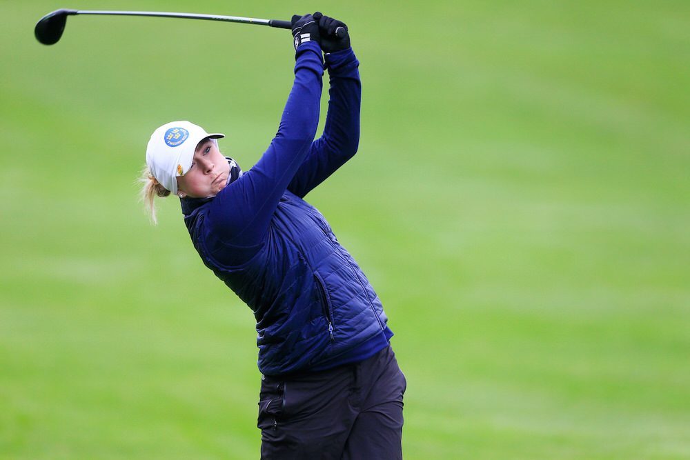 Louise Rydqvist (Sweden) during the Irish Girls' Open Stroke Play Championship at Roganstown. Picture: Golffile | Fran Caffrey
