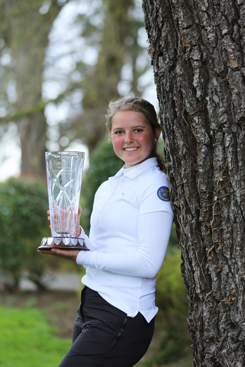 Kajsa Arwefjall (Sweden) after winning the 2018 Irish Girls U18 Open Stroke Play Championship at Roganstown Golf Club.  image by Jenny Matthews (www.cashmanphotography.ie)
