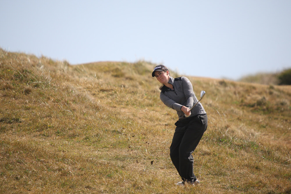Paula Grant during the final round of the Irish Women's Open Stroke Play Championship at County Louth Golf Club. Picture:  Jenny Matthews