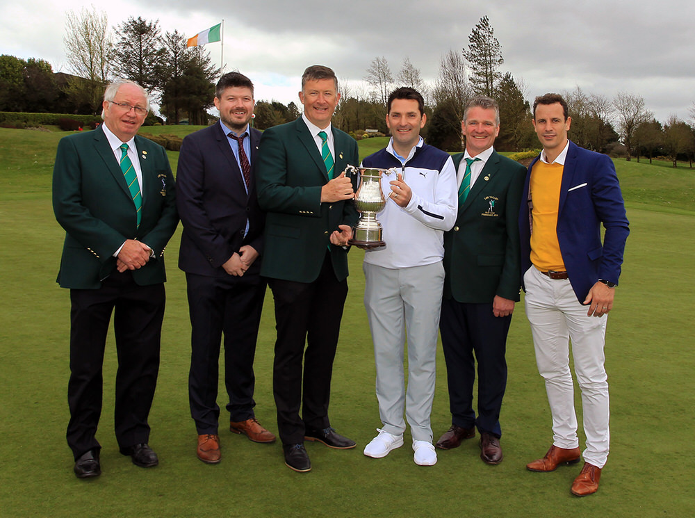 Lee Valley Captain Brian O'Donovan presents the Lee Valley Scratch Cup to Gary O'Flaherty (Cork), also included are sponsors Peter Tuite (BoyleSports), Rory O'Doherty (ODG Advisory), Jerry Keohane and Jim O'Callaghan. Picture: Niall O'Shea