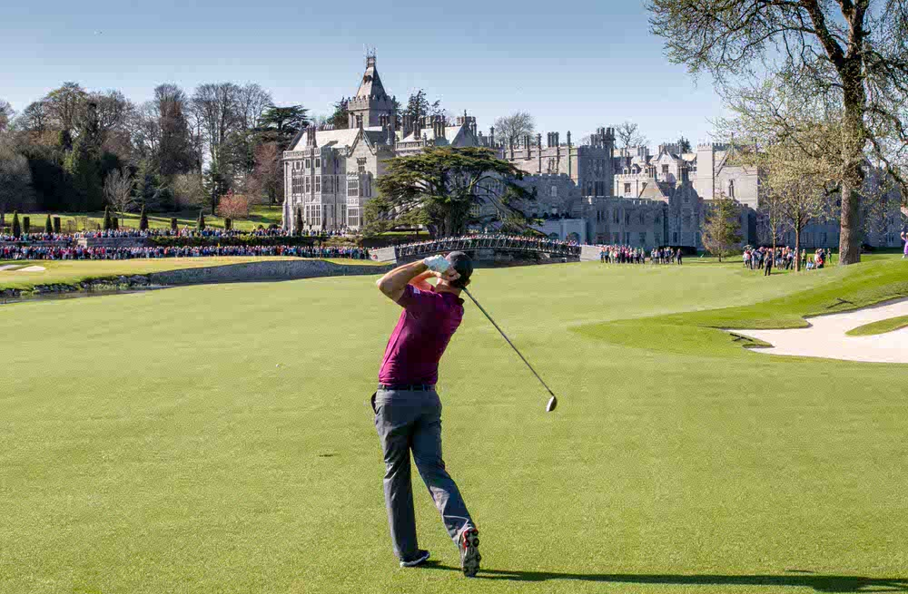 Padraig Harrington hits his approach to the 18th of The Golf Course at Adare Manor.jpg