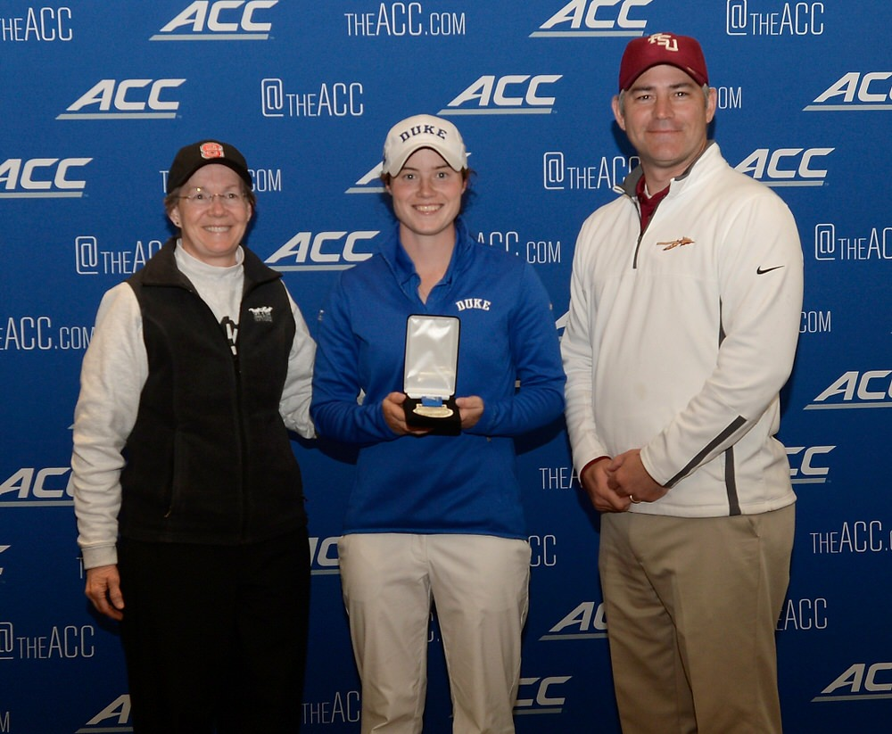 Duke's Leona Maguire with her third ACC title