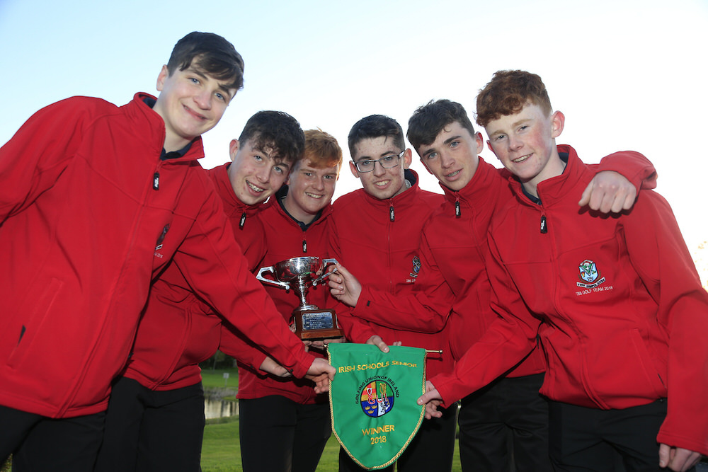 CBS Roscommon Students winners of the Irish Schools Senior matchplay championship, Monkstown golf club, Cork, Ireland. 24/04/2018. Picture: Golffile | Fran Caffrey