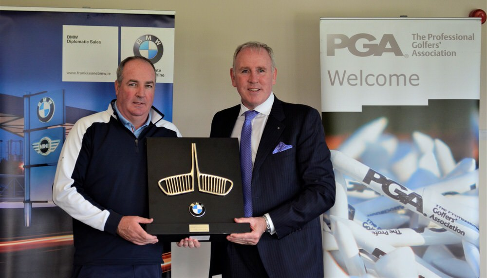 (L-R) Winner Damian Mooney with Tony Casey from BMW Ireland