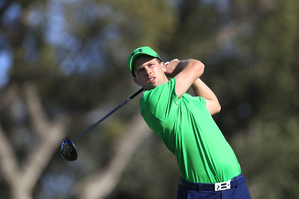 Alex Gleeson (IRL) during the final round of the European Nations Cup at Real Club de Golf Sotogrande. Picture: Golffile | Fran Caffrey