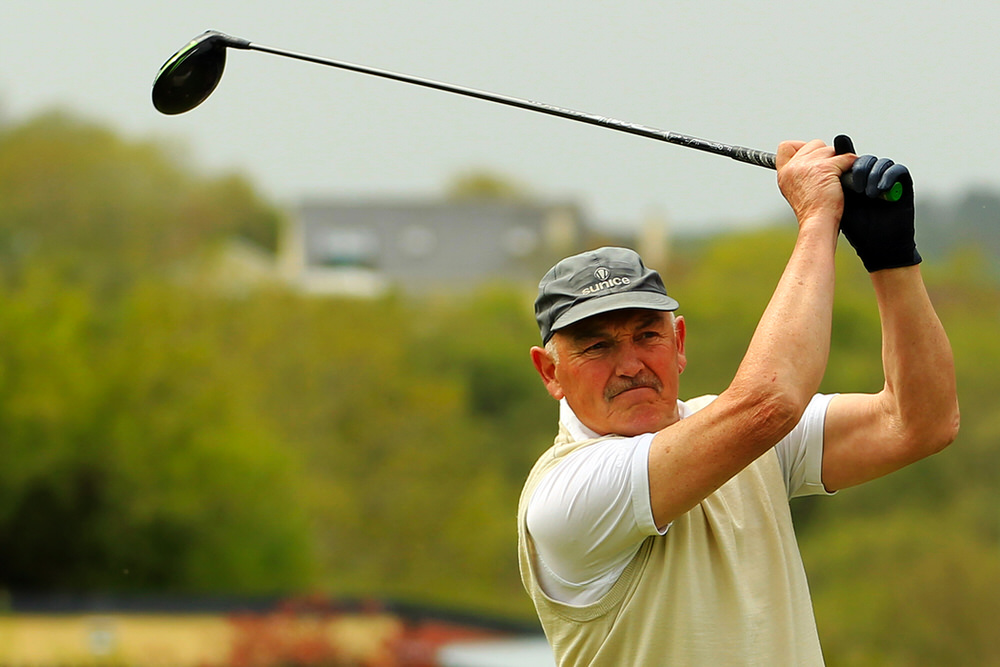 Billy Donlon (Birr) who won the Munster Seniors Amateur Open at Ennis Golf Club. Picture: Niall O'Shea