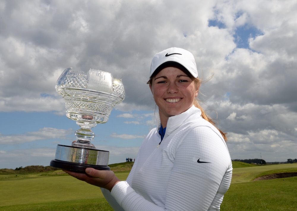 Hannah McCook (Scotland) winner of the 2018 Irish Women's Open Strokeplay Championship at Co Louth Golf Club. Picture by  Pat Cashman