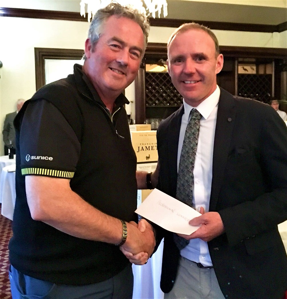 Colm Moriarty with  Ian McGuinness  Managing Director at Roganstown Golf and Country Club