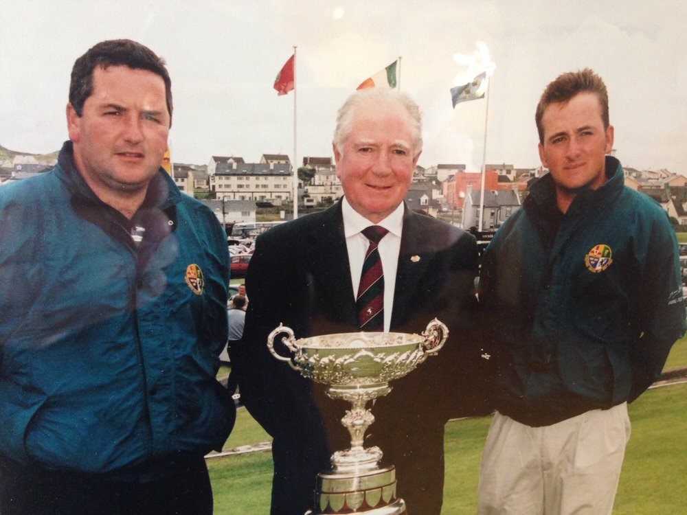 Graeme McDowell before his 2000 South of Ireland final win over Ken Kearney