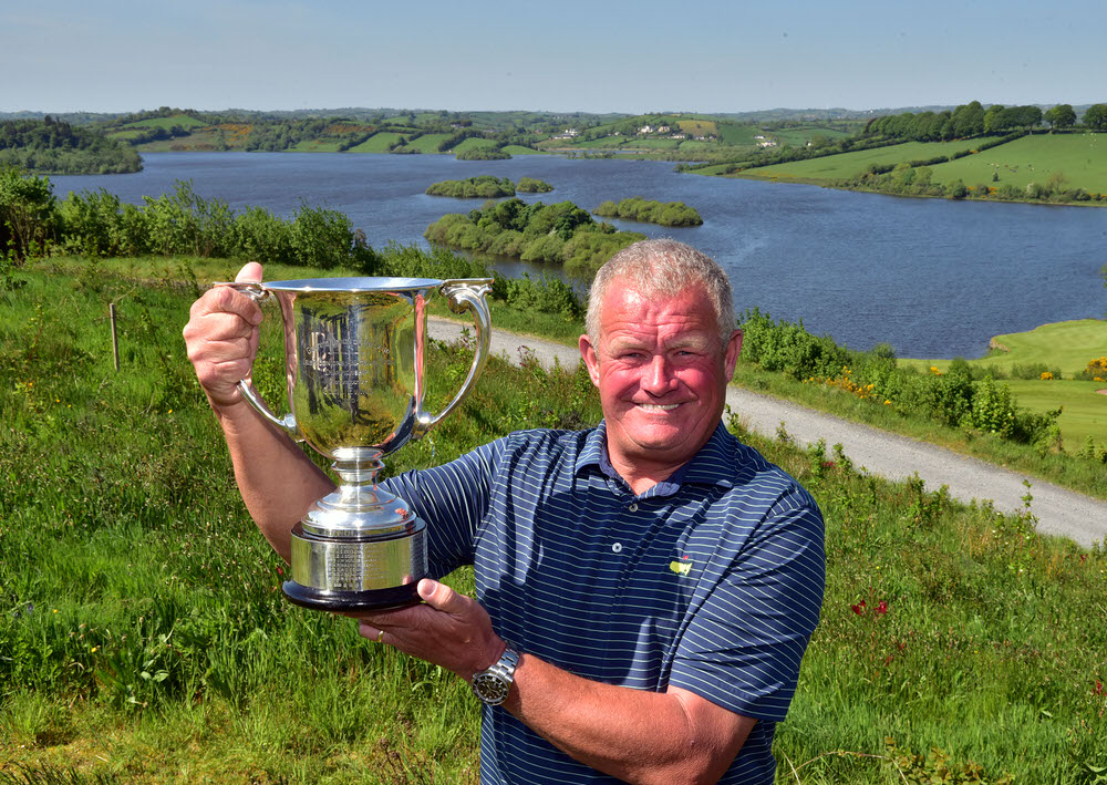 Trevor Foster (England) after his victory in the Irish Seniors Amateur Open Championship at Concra Wood.Picture by  Pat Cashman
