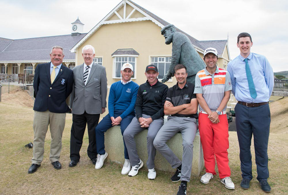 Liam Breen (Captain, Rosapenna GC), Michael McCumiskey (PGA in Ireland Regional Manager), Cian McNamara (Monkstown GC), Colm Moriarty (Glasson Hotel), Simon Thornton (Tulfarris Golf Resort), Neil O'Briain (Old Conna), John Casey (Director, Rosapenna Hotel & Golf Resort). Picture  Martin Fleming Photography