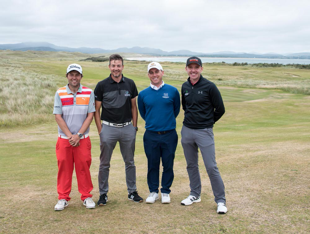 Dubai Duty Free Irish Open qualifiers Neil O'Briain, Simon Thornton, Cian McNamara and Colm Moriarty at Rosapenna on Sunday