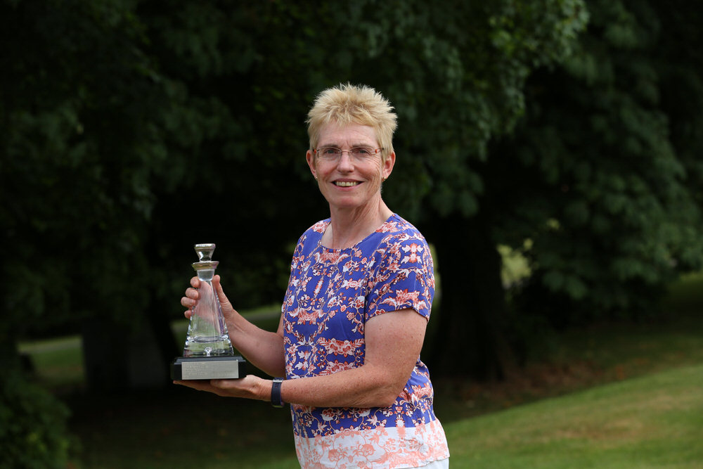 Laura Webb, winner of the Therese O'Reilly Strokeplay Qualifying Trophy at the Irish Senior Women's Close Championship 2018 at Monkstown Gold Club, Cork.