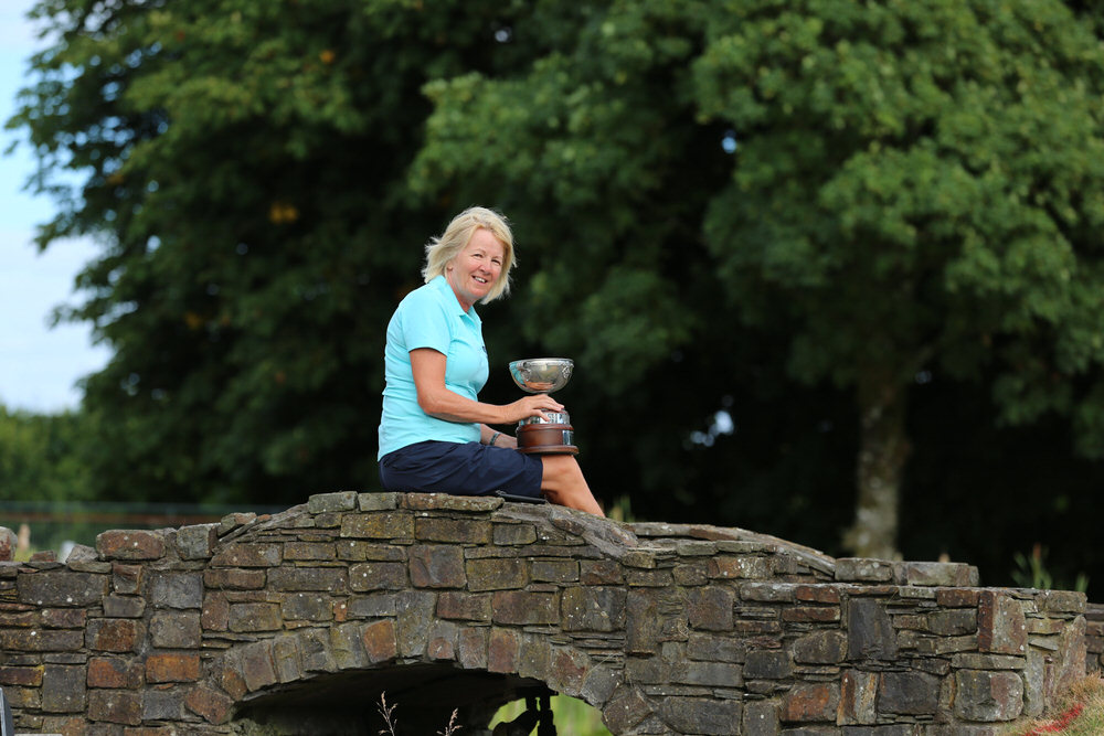 Joan Scanlon (Newcastle West) winner of the Irish Senior Women's Close Plate (Shirley Mac Donald Trophy) at Monkstown Golf Club, Cork