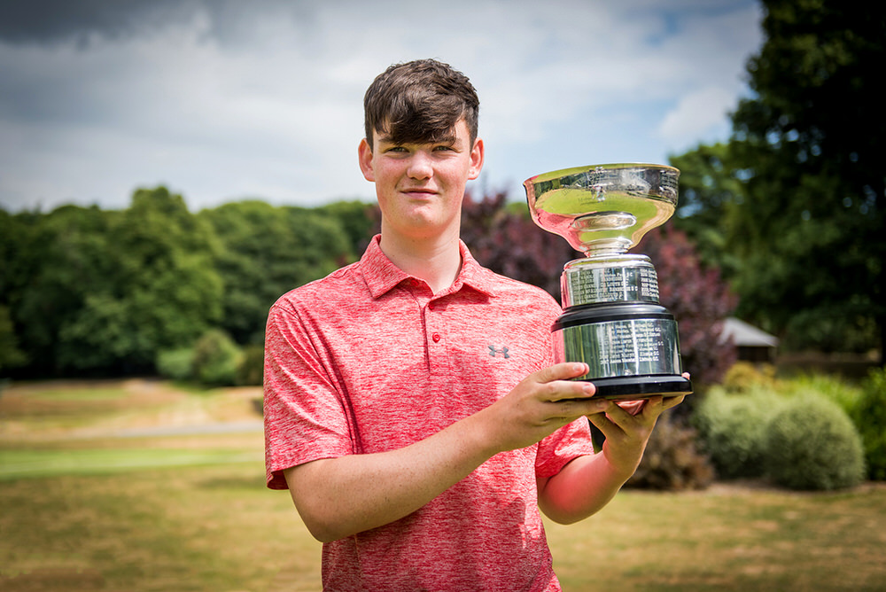 Paul Conroy (Enniscorthy) winner of the 2018 Munster Boys in Waterford Castle Golf Club.  Picture: David Murphy