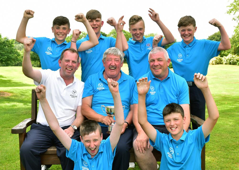 PHOTO: Munster Boys U14 team that won the Under 14 Interprovincial title. Caption under file info. Courtesy of GUI/ Cashman Photography .