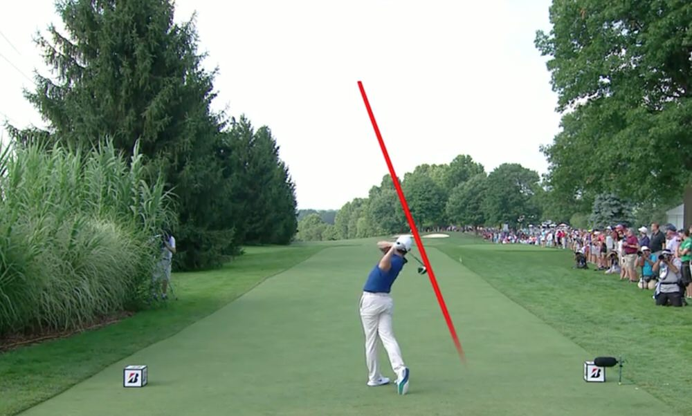 Rory McIlroy's 421 yard drive at the 16th was the only highlight of his day