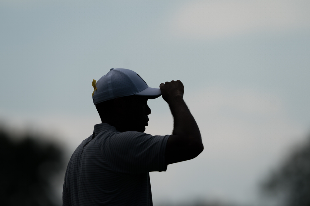 Tiger Woods on the sixth hole during the second round of the 100th PGA Championship held at Bellerive Golf Club on August 10, 2018 in St. Louis, Missouri. (Photo by Montana Pritchard/PGA of America)