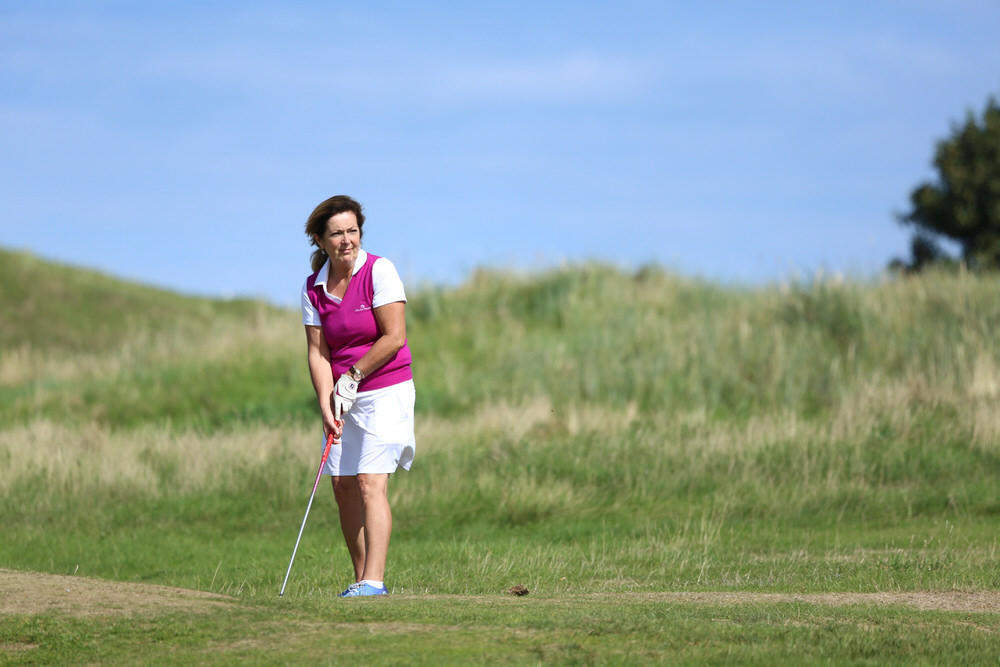 Margie Rennix (Druid's Heath) during the Minor Cup Final during the 2018 East Leinster District Ladies Cups and Shields Finals at Seapoint Golf Club. Picture: Jenny Matthews/ Cashman Photography