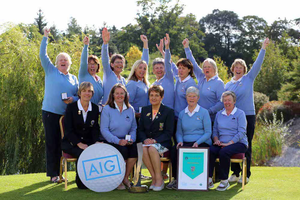 Courtown celebrate their AIG Junior Foursomes win