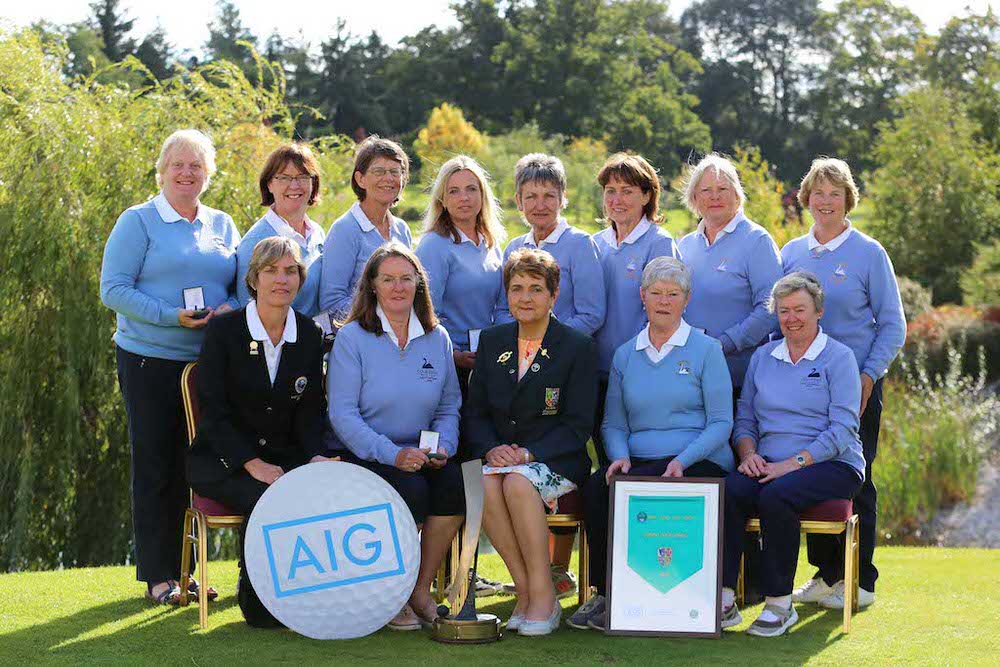 Courtown win the Junior Foresomes at the AIG Ladies Cups and Shields All Ireland Finals at Knightsbrook Hotel and Golf Club Resort.