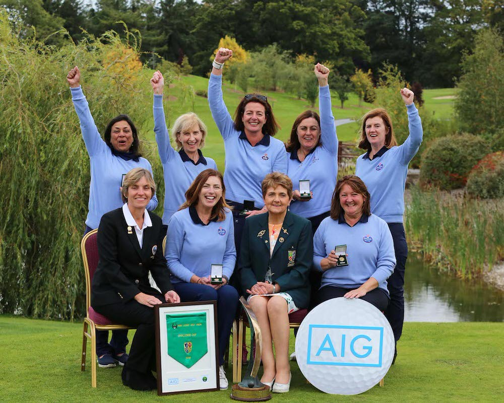 Smurfit Golf Club win the Challenge Cup at the AIG Ladies Cups and Shields All Ireland Finals at Knightsbrook Hotel and Golf Club Resort.  image by Jenny Matthews (www.cashmanphotography.ie)