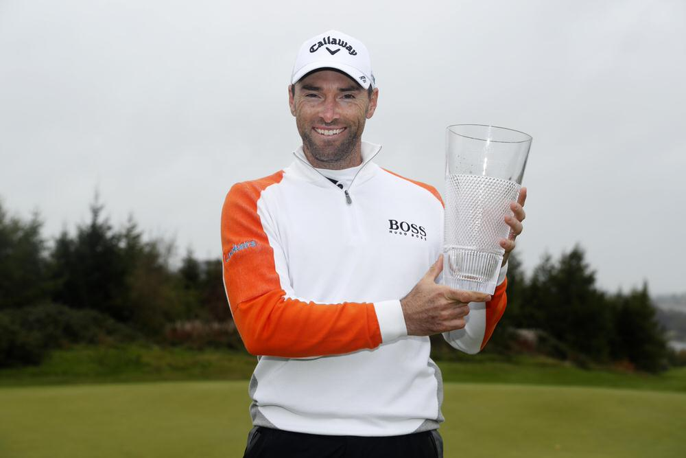 Oliver Wilson with the Monaghan Irish Challenge trophy. Picture: Getty Images