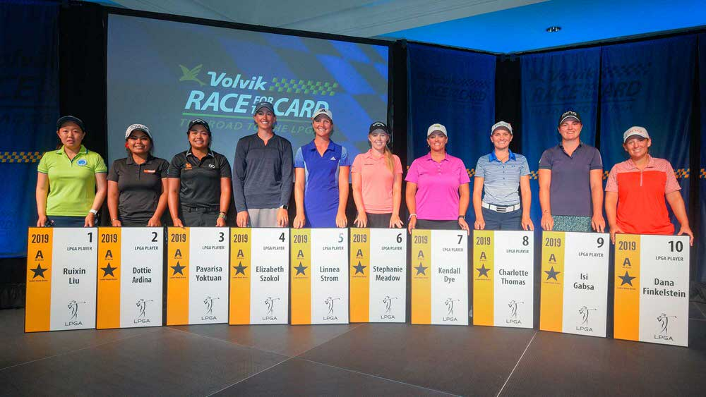 Stephanie Meadow on the sixth LPGA Tour card awarded to the leading money winners on the Symetra Tour this season.