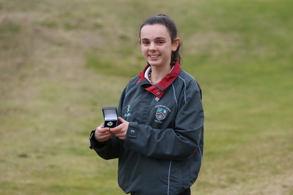 Royal Belfast's Aoife Moore won gold in the ILGU Junior Medal Finals at Seapoint. Picture: Jenny Matthews/ Cashman Photography