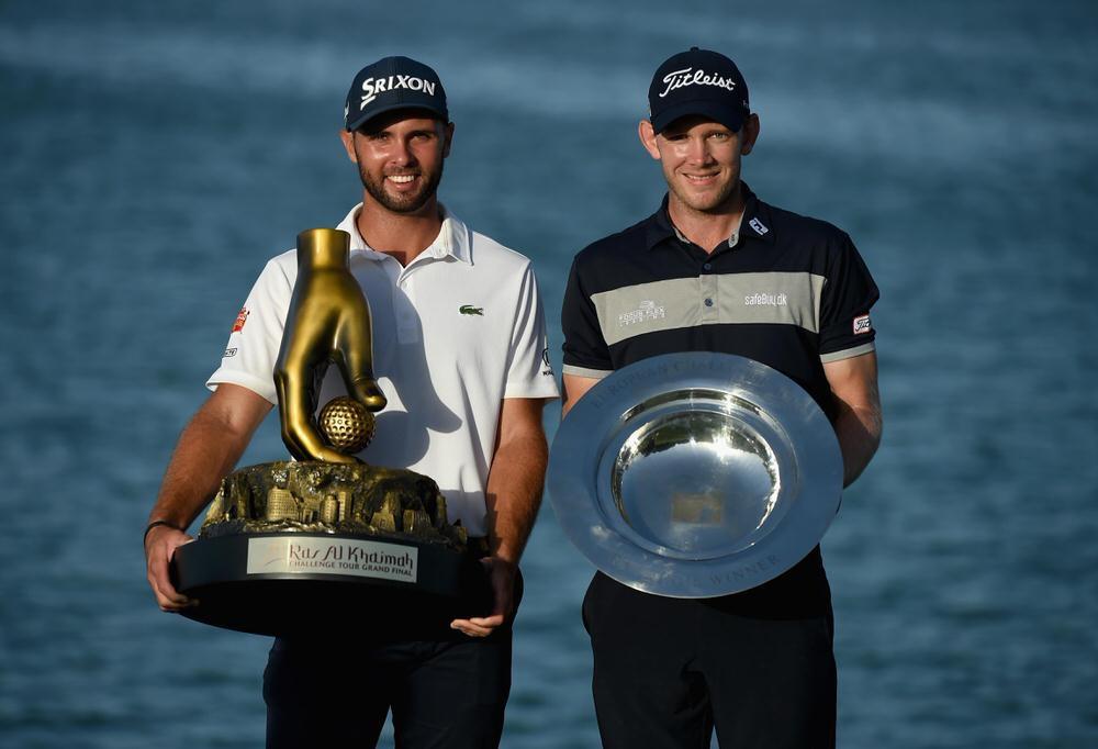 Challenge Tour Grand Final winner Adri Arnaus (left) and Ras Al Khaimah winner Joachim B. Hansen. Picture: Getty Images